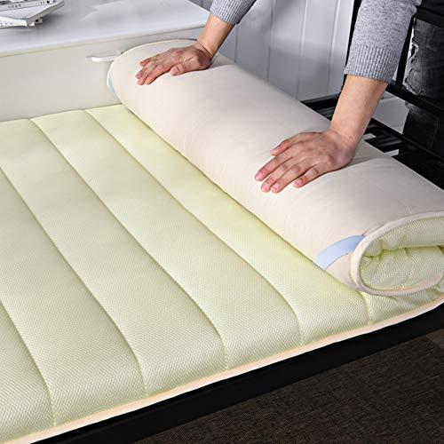 KE & LE Folding Roll-up Matratze, Dauerhaft Weiches Bett Topper Matratze Premium Hotel Qualität Matratzenauflage Schlafen Pad-b 90x200x4cm (Strand, Roll-up Mat)