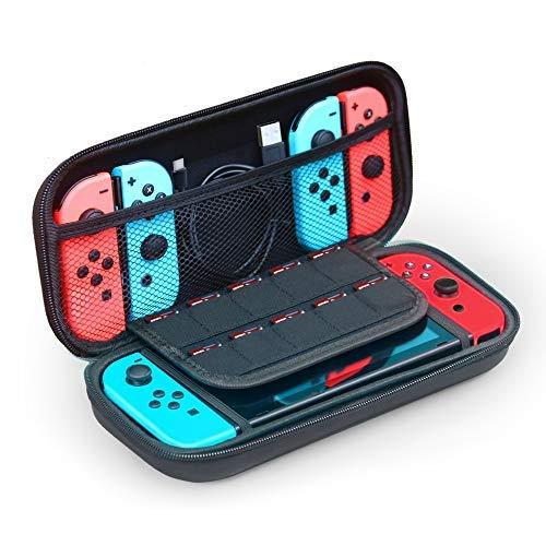 Tasche für Nintendo Switch, JFUNE Tragetasche für die Nintendo Switch Konsole, Spiele, Joy-Con + Kratzfest HD Screen Protector für Nintendo Switch Console Zubehör kit (Switch Tasche) (Tragekoffer Spiel-konsole,)