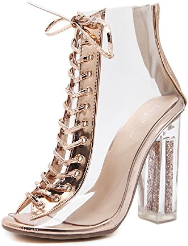 8e41a54faad ZHZNVX The crystal high-heeled shoes strap high heels stylish stylish  stylish transparent straps crystal high-heeled shoes B07CSQG7CX Parent  8a129d
