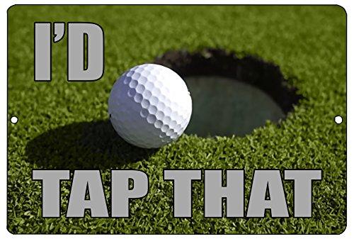 Rogue River Tactical Funny Golf Metall blechschild Golf Wall Decor I 'd Wasserhahn, DASS Putt Man Cave Bar Golfer Ball -