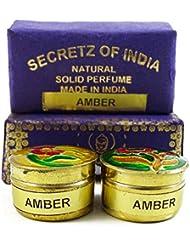 Parfum ambre naturel solide Parfum corps musc naturel En Mini Brass Jar 4g