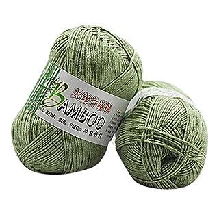Gaddrt Hand-Woven Bamboo Cotton Yarn Kiting Wool, Warm Soft Natural Knitting Crochet Knitwear Wool Yarn (A)