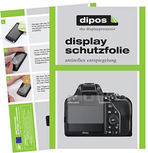 dipos I 6X Schutzfolie matt passend für Nikon D3500 Folie Displayschutzfolie