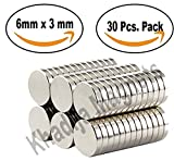 #7: KHADIJA Magnets 30 Pieces 6X3mm Premium Brushed Nickel Pawn Style Magnetic Push Pins,Fridge Magnets, Office Magnets, Dry Erase Board Magnetic pins, Whiteboard Magnets,Refrigerator Magnets
