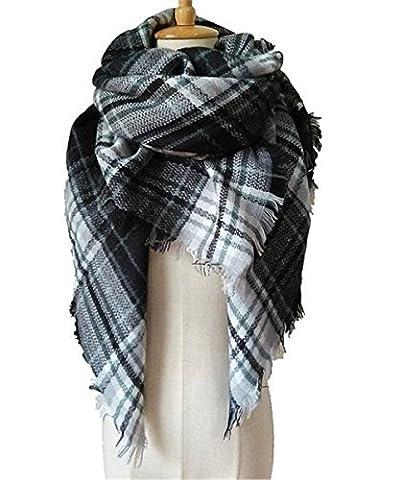 Hippolo automne et hiver imitation cachemire doppelseitigen multicolores Plaid Serviette écharpe écharpe 20 20 L(42)