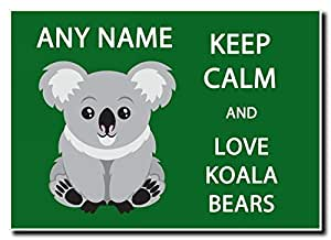 Keep Calm and Love Koala Ours personnalisé Jumbo aimant