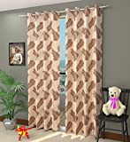 #3: Homefab India 2 Piece Candy Polyester Eyelet Curtain