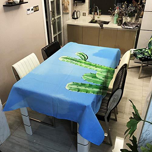 YUANSHENG Polyester Bedruckte Tischdecke, Digitale Tischdecke der Cactus-Serie, personalisierte Tischdecke ZB2013-16 100x140cm für Zuhause