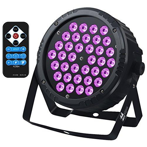 36 Leds UV-Licht mit IR, Sound aktiviert und DMX Par Wall Wash-Beleuchtung für Home Stage Party Disco DJ Pub Tanzshow Weihnachten (1 Packung) (Uv Licht Party)