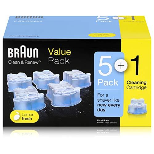 6x Braun Series Ersatzkartuschen mit Reinigungsflüssigkeit ( 170ml )