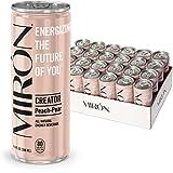 Mirón Fuji Pfirsich Birne natürlicher Energy Drink mit Kohlensäure 8.4 Fl.Oz. Dosen (0.25 L) (4er Pack)