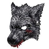 RXBC2011 Sangre Lobo Werewolf Máscara de Hombre Lobo para Cosplay Halloween Gris