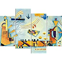 Vassili Kandinsky - Dulce Evento, 1928, 4 Partes Cuadro, Lienzo Montado Sobre Bastidor (120 x 80cm)
