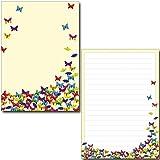 2 Schreibblöcke bunte Schmetterlinge 50 Blatt Format DIN A5 mit