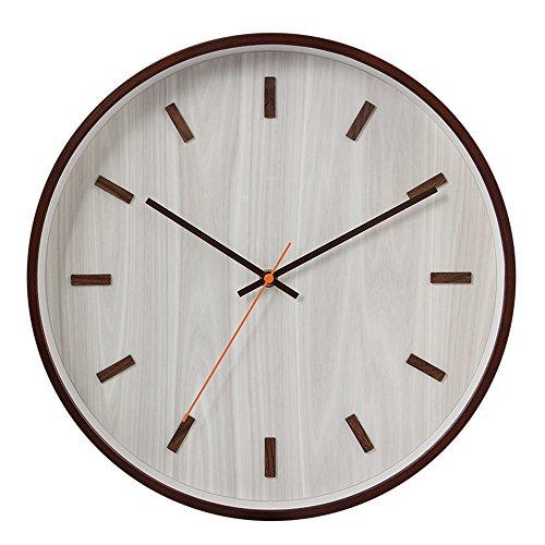 Wall Clocks Wanduhr Uhren Wecker Uhr Haushalt Pendeluhr 14-Zoll-Massivholz digital leise nicht tickende Batterie betrieben Runde einfach zu lesen Wohnzimmer Esszimmer Café und Bar Eisen Schlafzimmer Uhr grau - Toskana-altes Eisen