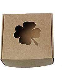 5 Hochwertige Organza 90 x 110 mm creme Säckchen mit Glitter
