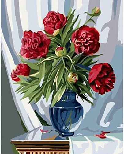 YKCKSD Puzzle Adulte 1000 Pièces Pivoines Rouges Rouges Rouges dans Un Vase De Fleurs Bricolage pour Le Salon | Luxuriante Dans La Conception  aadba9