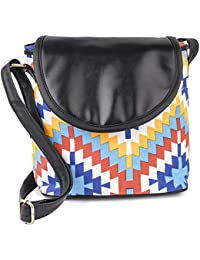 Hanso Collection Women's Multi Color Canvas Sling Bag (LBHBCP14OB)