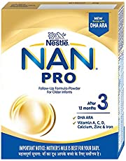 Nestle NAN PRO 3 Follow-up Formula Powder - After 12 months, Stage 3, 400g Bag-In-Box Pack