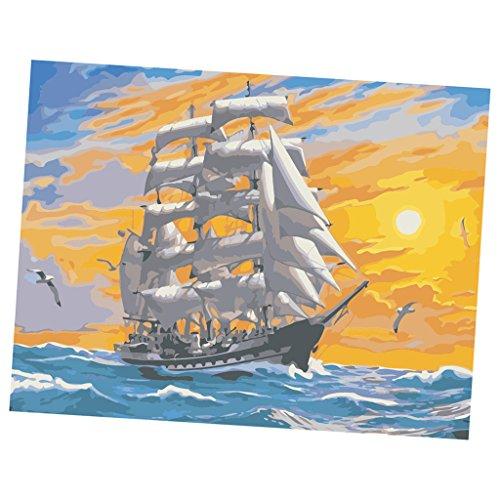 ach Zahlen Kits DIY Digital Leinwand Ölgemälde Malen nach Zahlen Farbe Durch Zahl Dekoration Geschenke für Erweiterte Erwachsene Kinder - 6# ()