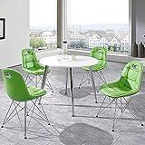 Pharao24 Runde Tischgruppe in Grün und Weiß modern