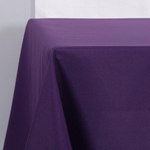 Deconovo Tischdecke Wasserabweisend Tischwäsche Lotuseffekt Tischtuch 130x220 cm Dunkellila (Tischdecken Esstisch)
