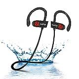 Bluetooth Kopfhörer, BELLESTYLE Leichte Bluetooth 4.1 Ear Ohrhörer mit Mikrofon, IPX7 Wasserschutz Stereo Headset für iPhone, iPad, Samsung, Nexus, HTC, LG und mehr