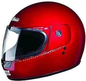 Studds Bravo Full Face Helmet (Cherry Red, L)