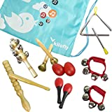 Kilofly Kids mini Band Musical Instruments Rhythm Toys Value Pack [set di 11]