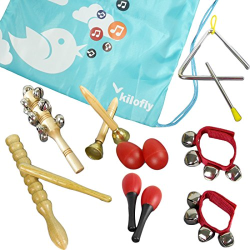 kilofly-kids-mini-band-musical-instruments-rhythm-toys-value-pack-set-of-11