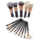 NEEDOON Makeup Pinsel Set 15 Stück Foundation Kosmetik Lidschatten Puder Eyeliner Augenbrauen Concealer Contour