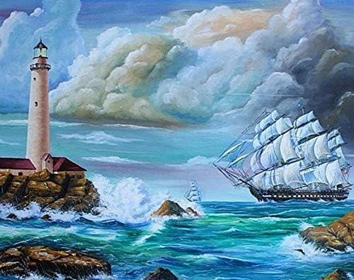 5D DiaFemmet Peinture kit DIY Cristaux DiaFemmet De Strass Peinture Collez-le Peinture par numéro Kits point de croix - Cloud Sea Sailboa (8485) B07HJZNZB7 | Approvisionnement Suffisant