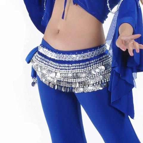 Belly Dance Hip Écharpe de jupe avec paillettes Idée de Cadeau de Noël Style 17