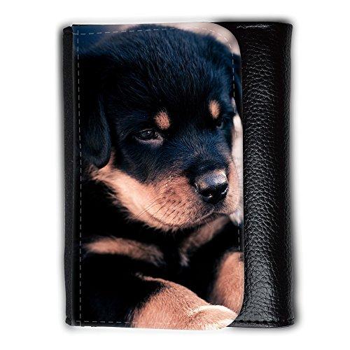 Portemonnaie Geldbörse Brieftasche // V00003220 niedliche Rottweiler Welpen // Medium Size Wallet (Rottweiler Geldbörse)
