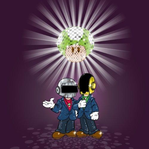 Videospiel-Parodie von Punk Sängern Pilz Logo - Vinyl Aufkleber (Daft Punk-aufkleber)