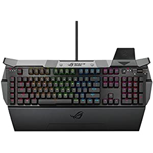 Asus ROG GK2000 Horus RGB Gaming Tastatur (Aura, mechanisch, Cherry MX red switches) schwarz