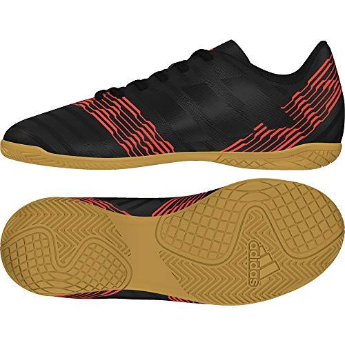 adidas Unisex-Kinder Nemeziz Tango 17.4 Indoor Fußballschuhe, Schwarz (Cblack/Solred), 32 EU (Adidas Fußball Schuhe Messi Kinder)