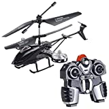 Simulus Helikopter: Ferngesteuerter 4-Kanal-Mini-Hubschrauber mit 5 Rotoren und Gyroskop (RC-Hubschrauber 4 Kanal)