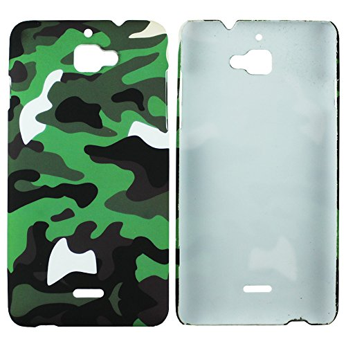 Heartly Army Style Retro Color Armor Hybrid Hard Bumper Back Case Cover For Micromax Canvas 2 A110 Dual Sim - Army Green  available at amazon for Rs.249