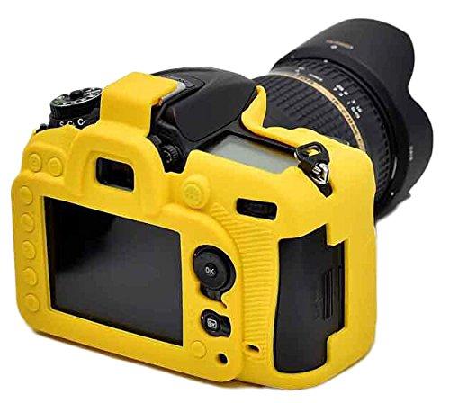 Case Housse Caméra caoutchouc Gel de protection en silicone Compatible Pour Nikon D7200 Caméra Jau