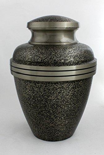 Urna funeraria per ceneri, taglia adulto Funeral Memorial Urns, design nero