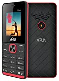 #8: Aqua Maze - 1000 mAh Battery Slim Dual SIM Basic Keypad Mobile Phone- Black+red
