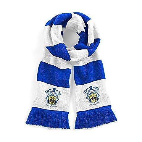 50s Écharpe - Rétro Ville De Huddersfield Traditionnel Bleu 1950s