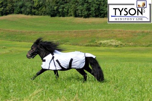 Fliegendecke Mini Pony Minipony Shetty Minishetty NUR KLETT 75 80 85 90 95 100 cm ! Fohlendecke abnehmbares Halsteil !!! (100)