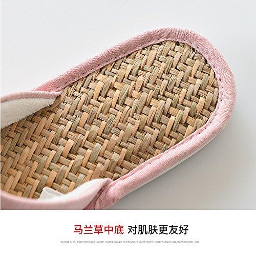 in estate le pantofole, antiscivolo lino pantofole,41 E 42 Grey 37 E 38 Rosa
