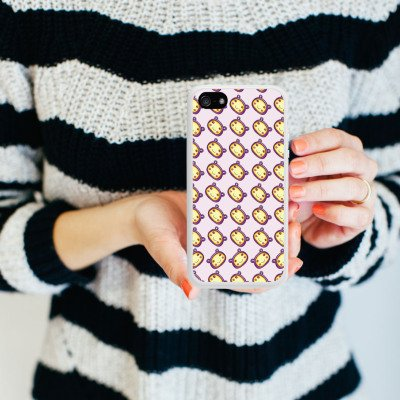 Apple iPhone 5 Housse Outdoor Étui militaire Coque Motif Motif Kawaii Housse en silicone blanc
