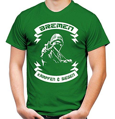 Bremen kämpfen & siegen Männer und Herren T-Shirt | Fussball Ultras Geschenk | M2 Grün