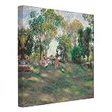 Bilderwelten Cuadro en lienzo - Auguste Renoir - Landscape with Figures - Cuadrado 1:1, cuadros cuadro lienzo cuadro de lienzo cuadro sobre lienzo cuadro moderno cuadro decoracion, Tamaño: 80 x 80cm
