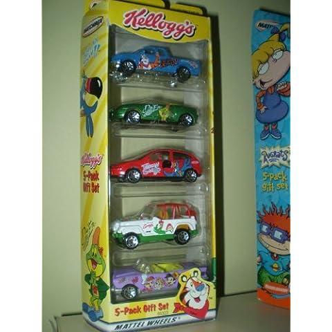 Kellogs 5 Die Cast Car Set w/ Tony the Tiger Toucan Sam Snap Crackle Pop Diggum by Mattel