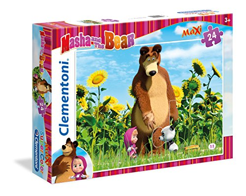 Clementoni 24039 - Masha e Orso Maxi Puzzle, 24 Pezzi